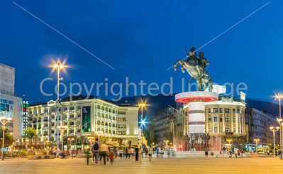 Main Square, Skopje, Macedonia