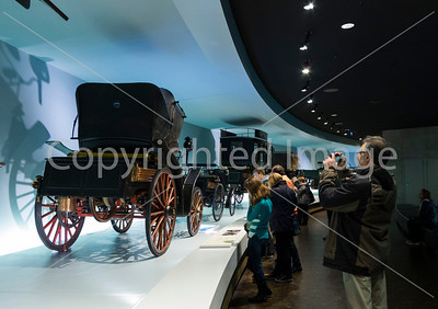 In the Mercedes Museum, Stuttgart.