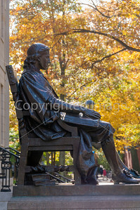 John Harvard, on the campus, John was the founder of Harvard University.
