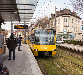 City train in Stuttgart