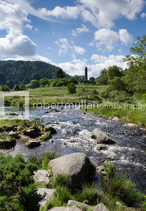 Famous Round Tower in Glendalough, Co Wicklow in the Irish republic