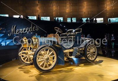 An early Merecedes on display at the Mercedes Museum, Stuttgart.