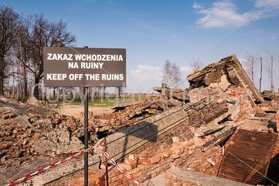 All that remains of the gas chambers in Auschwitz concentration camp.