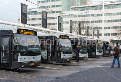Busses in Eindhoven, Holand